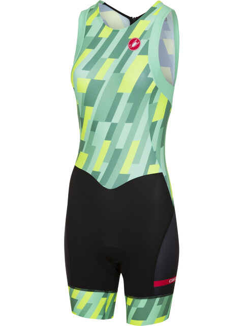 Castelli Short Distance Race Suit Women pastel mint/yellow fluo/black